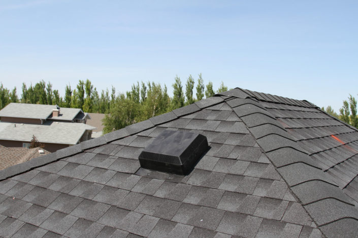 Black Tiles Optimum Roofing