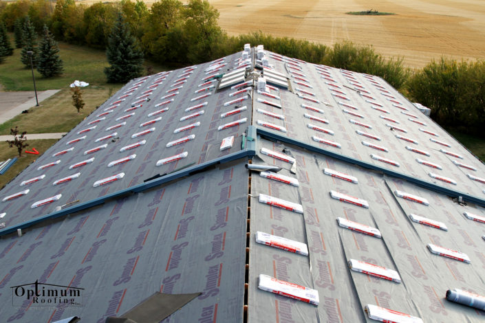 shingles on a roof in sask